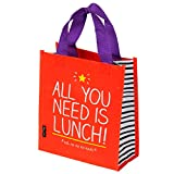 Happy Jackson All You Need is Lunch Tote | Red | Plastic | Wipe Clean