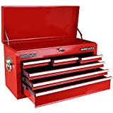 Hardcastle 6 Drawer Red Lockable Topchest Tool Box