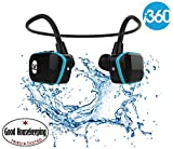 Swimming MP3 Player Underwater Waterproof to 3 Meters - Wireless Earphones Headphones 8GB MP3 Player - Listen to your Music Whilst Swimming/Running/Training/Gym Fuss Free without a Cord! Waterproof Sport MP3 Music Player