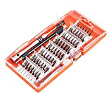Screwdriver Set, 60 in 1 Precision S2 Alloy Tool Steel Screwdriver Kit with 56 Screw Drive Bits Heads, Repair Tool Kit Sets Accessories for PC, Phones, Glasses, iPhone, Samsung, Laptop, Computer, macbook, Camera, Portable Magnetic Screwdriver Kit with carry case