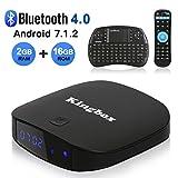Kingbox 2018 K2 Android 7.1 TV Box BT4.0/2GB+16GB Support 4K (60Hz) Full HDMI/3D/H.265/2.4GHz WiFi Smart TV Box with Mini keyboard