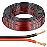 10m Red / Black 2 x 0.50mm Speaker Cable by electrosmart - Ideal for Car Audio & Home HiFi