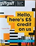 Giffgaff 4G Multi Sim card Preloaded with £5 Credit + Adapter - Unlimited Calls, Texts and Data - For IPHONE 4/4S/5/5C/5S/6/6S/6+ iPad 1/2/3/4/5 Air/2/5 Galaxy S1/S2/S3/S4/S5/S6/S6-edge/S7/S7-edge, LG Phones, HTC Phones, Sony/Sony Xperia Phones -  Mobiles Directs Communications Ltd