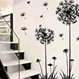 Clearance/ Bluester Wall Stickers, Large Removable Dandelion Flower Plant Tree Home Wall Decal (Black)