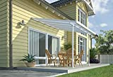 Palram Pergola Patio Cover Feria 3 x 3.05m with Robust Structure for Year-Round Use - White