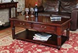 Baumhaus La Roque Coffee Table With Drawers - Hand Crafted - Solid Mahogany