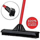 Rubber Broom & Squeegee 33CM – Design, Natural Rubber Bristles. For Pet & Human Hair – For Indoor & Outdoor Use. Cleans Carpets, Hardwood Floors, Decks & windows. Water Resistant.