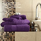 Egyptian Cotton Bath Sheet 700gsm Luxury Extra Large Jumbo Thick Bathroom Towels Super Soft Combed Highly Absorbent High Quality Towels 90 x 140 Cm, Purple