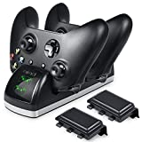 Xbox One Controller Charger, BEBONCOOL Dual Xbox One / One S / One X Controller Charger Charging Dock with 2 x 600 mAh Xbox one Rechargeable Battery Packs (Not for Xbox Elite Game Controller)