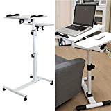 MultiWare Laptop Desk Adjustable Portable Stand Laptop Table For Sofa Bed White