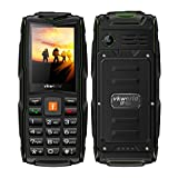 Mobile phone,2017 New VKworld Stone V3 2.4' Sim-Free Mobile phone with Big Button,IP68 Waterproof,Shockproof,Dustproof,LED Flashlight and Triple Sim Triple Standly 2G Unlocked Cell phone for the Elderly/Military(2MP Camera,64MB+64MB,FM Radio,Box Speaker,3000mAh battery,Millet Lamp Gift) (Green)