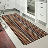 Rugs Superstore NEW BEIGE COLOUR MODERN WASHABLE NON SLIP KITCHEN UTILITY HALL LONG RUNNER DOOR MAT RUG (7 SIZES AVAILABLE) (40x67cm)