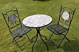 2 Seater 'Mixed' Pattern Mosaic Bistro Patio Garden Set.