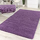 Shaggy High-Pile Rug Purple Clearance Sale Great Price, Size:160x220 cm