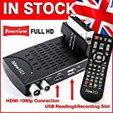 UK Mini Scart FULL HD Freeview Set Top Box Receiver Digi Box Digital TV Tuner Terrestrial USB HD Recorder HDMI or SCART Connections (iView HD Mini)