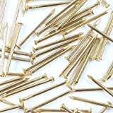 100x Brass Wall Pins 25mm Panel Wire Hanging Photos/Art/Picture Frames Gold Nail
