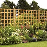 Pressure Treated Heavy Duty Square Trellis Panel - Various Sizes Available (6ft x 3ft)