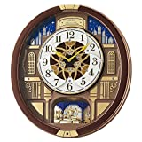 Seiko 'Melodies In Motion' Wood Wall Clock, Color:Brown (Model: QXM362BRH)