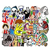 FEZZ 100pcs Stickers Pack Mixed Sticker Cartoon Waterproof for DIY Laptop Macbook Car Motorcycle Bicycle Luggage Graffiti Skateboard