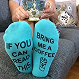 D&&R If You Can Read This Bring Me Beer Wine Whisky Chocolate Socks Letter Print Casual Ankle Socks by Novelty Funny Christmas Gift Birthday Present