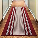 Rugs Superstore NEW RED COLORFUL MODERN WASHABLE NON SLIP KITCHEN UTILITY HALL LONG RUNNER DOOR MAT RUG (7 SIZES AVAILABLE) (40x67cm)