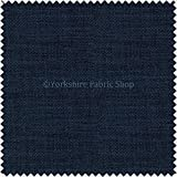 New Soft Designer Linen Look Chenille Fabric Ideal For Upholstery Drapes Blinds Curtains Cushions Navy Blue Colour