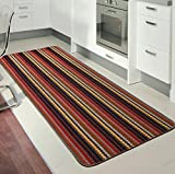 Rugs Superstore NEW BROWN COLOUR MODERN WASHABLE NON SLIP KITCHEN UTILITY HALL LONG RUNNER DOOR MAT RUG (5 SIZES AVAILABLE) (66x120cm)