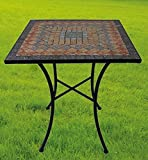 Garden Table Sardena, Mosaic Furniture in Mediterranean Style, table Angular