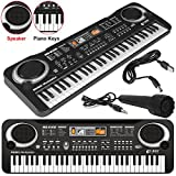 61 Keys Digital Music Electronic Music Keyboard Key Board Musical Electric Piano Organ Microphone Multifunction Key Board Portable LED Display New