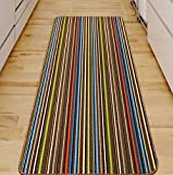 Rugs Superstore NEW CHESTNUT COLOUR MODERN WASHABLE NON SLIP KITCHEN UTILITY HALL LONG RUNNER DOOR MAT RUG (5 SIZES AVAILABLE) (80x150cm)