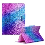 For iPad 2/3/4 9.7' Case, Funyye Practical Fashionable New 3D Marble Pattern PU Leather Magnetic Flip Folio Book Style 2017 Version with Built-in Stand and Front/Back Protection Slim-Fit iPad Smart Cover Case iPad 2/3/4 9.7' - Rainbow
