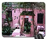 Sevilla Old City Pink Restaurant Mouse Pad, Mousepad (Houses Mouse Pad)