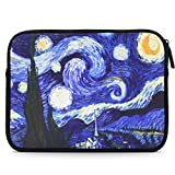 MoKo Sleeve for 7-8 Inch Amazon Tablet, Portable Neoprene Case Bag for Fire HD 8, Fire 7 2017, Fire 7 Kids Edition 2017, Kindle E-reader, Kindle Oasis 2017, Boogie Board Jot 8.5 - Starry Night
