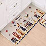 Flannel Rug Non-Slip Bath mat Shower Carpet Mats for Bathroom/Hard Floors,Super Absorbent. (50X120CM, Sweet-home)