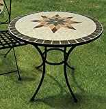 Garden Table Constanza, Mosaic Furniture in Mediterranean Style, table Round 70 cm