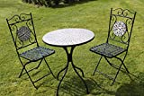 2 Seater 'Brown/Gold Pattern' Mosaic Bistro Patio Garden Set.
