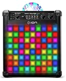 ION Audio Party Rocker Express Bluetooth Karaoke Machine, Party Speaker with LED Light Show, Microphone, Built-In Echo Effect and USB Charging Port
