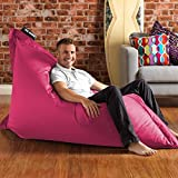 BAZAAR BAG - Pink, Giant BeanBag - 180cm x 140cm, Indoor Outdoor Garden Floor Cushion Bean Bags
