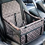 Luxury Enhanced Version Dog Cat Puppy Pet Car Booster Seat Travel Carrier Bag Cage Tote Kennel With Seat Belt Waterproof Oxford Cloth Breathable Mesh Yarn Hanging Bag