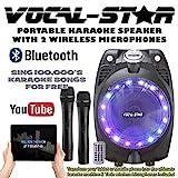 Vocal-Star VS-SP30 Wireless Karaoke Machine Black Active PA Speaker 2 Wireless Mics Bluetooth