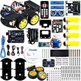 Elegoo UNO Project Smart Robot Car Kit V 3.0 with UNO R3, Line Tracking Module, Ultrasonic Sensor, Bluetooth module etc. Intelligent and Educational Toy Car Robotic Kit for Kids Teens
