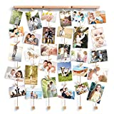 Love-KANKEI Multi Photo Frames/Picture Frames for Wall Hanging Display Wall Decorations- Collage Photo Frames with 6 Lines and 30 Pegs
