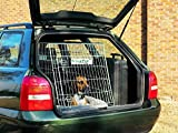 VivaPet In Car Sloping Transport Travel Mobile Dog Puppy Cat Metal Cage Crate Kennel Pen Enclosure with Non-Chew Metal Metal Tray and Slanted Front for Car, Black, 30inch L x 21inch W x 24inch H (76cm x 54cm x 61cm), Slanted Front for Car, Medium, Suitable for most cars