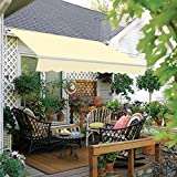 Greenbay 2.5 x 2m Manual Awning Garden Patio Canopy Sun Shade Shelter Retractable Grey
