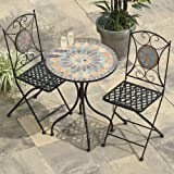 Transcontinental Group 60cm 2-Seater Cairo Mosaic Bistro Set with Orange Tile