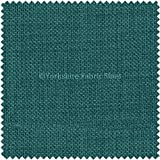 New Soft Designer Linen Look Chenille Fabric Ideal For Upholstery Drapes Blinds Curtains Cushions Ocean Teal Blue Colour