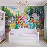Disney Princesses Rapunzel Ariel - Photo Wallpaper - Wall Mural - EasyInstall Paper - Giant Wall Poster - XL - 208cm x 146cm - EasyInstall Paper - 2 Pieces