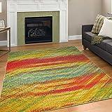 A2Z Rug Modern Colourful Contemporary Design Area Rugs Rio Collection 5710, Multi 80x150 cm - 2'7'x5' ft