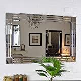Silver Triple Bevelled Venetian Wall Mirror 3.28Ft X 2.29Ft (100cm X 70cm) Cottonage