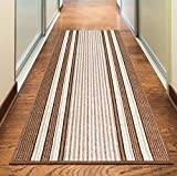 Rugs Superstore NEW BEIGE CREAM BROWN COLORFUL MODERN WASHABLE NON SLIP KITCHEN UTILITY HALL LONG RUNNER DOOR MAT RUG (7 SIZES AVAILABLE) (40x67cm)